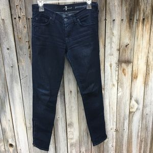 7 For All Mankind Dark Wash Gwenevere Jeans Sz 26